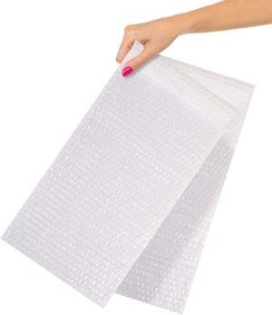 "Clear Bubble Wrap Bags 8"" x 15.5"" Self-Seal Bubble Wrap Pouches"