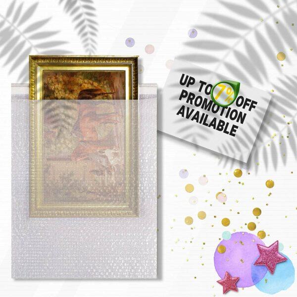 10 Pack Clear Bubble Wrap Bags 12″ x 15.5″ Self-Seal Bubble Wrap Pouches 3