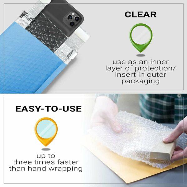 10 Pack Clear Bubble Wrap Bags 12″ x 15.5″ Self-Seal Bubble Wrap Pouches 5