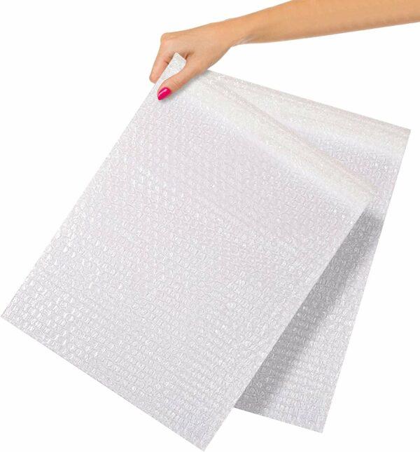 "Clear Bubble Wrap Bags 12"" x 15.5"" Self-Seal Bubble Wrap Pouches"